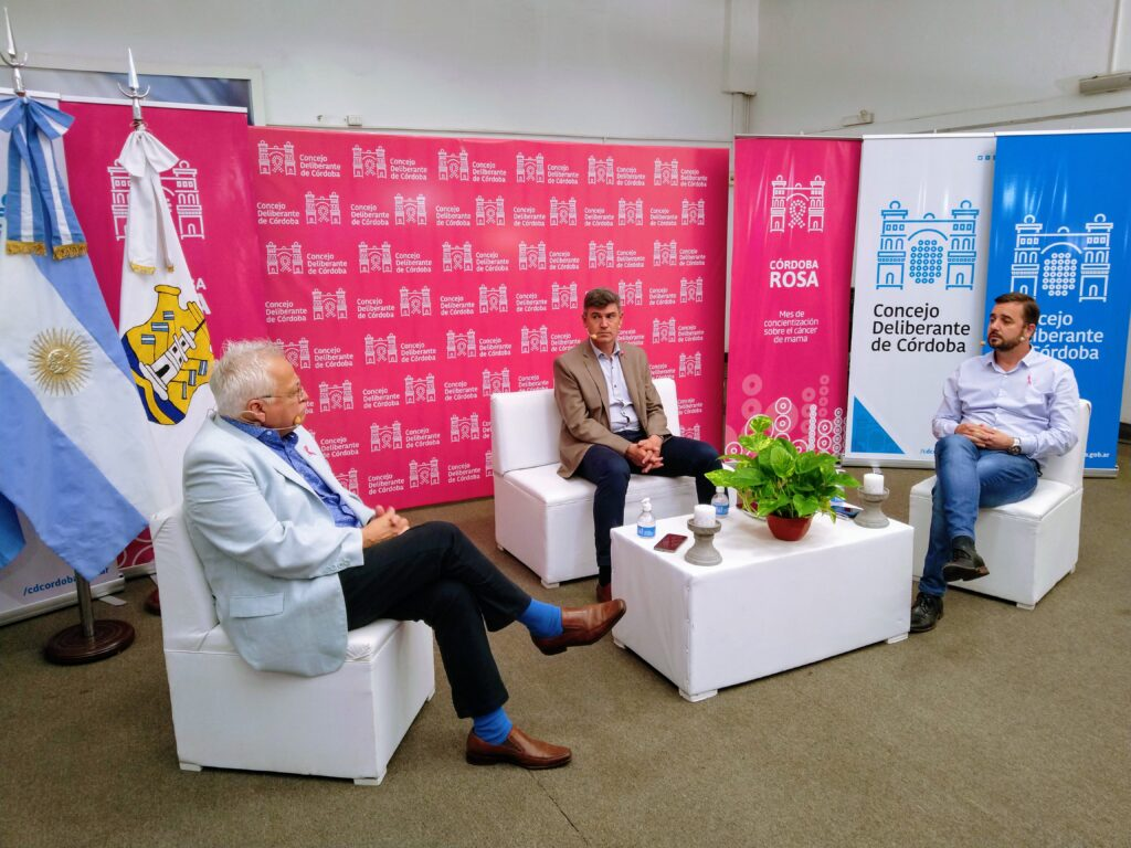 Daniel Passerini, concejal Nicolás Piloni y Dr. Daniel Pizzi